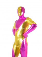 Golden And Pink Shiny Metalic Zentai Suit