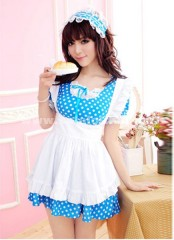 Sweet Pink And Blue Cosplay Scullery Maid Costume,Princess Halloween Dress For Women