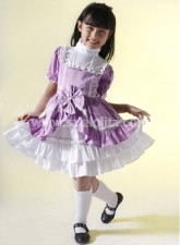 Best Selling Purple Bow Kids Lolita Dress