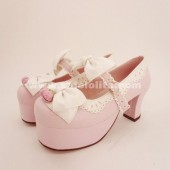 Hot bow cosplay and cute male primary lolita shoes,three colors