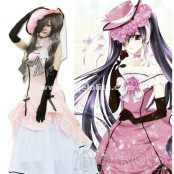 Black Butler Ciel Phantomhive Women Pink Dress Cosplay Costume(Include Dress,Hat,Gloves,Bows)