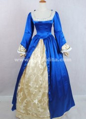 2018 Brand New Elegant Blue Long Sleeves Victorian Ball Gowns For Halloween