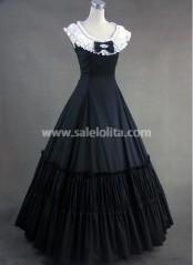 Black and White Bow Aristocrat Victorian Dress