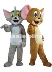 Festival Party Costume Geely Mouse/Tom Cat Mascot Costume Christmas Cat/Mouse Cartoon Costume Adult Size