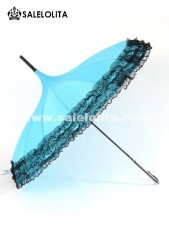 Hot Sale Blue Lace Lolita UV Umbrella