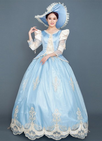 Blue Cinderella Cosplay Lolita Dress Rococo Marie Antoinette Fairytale Fancy Dress