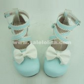 Sky blue cosplay and sd doll cartoon princess shoes