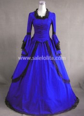 Royal Blue Vintage Victorian Dress for Sale