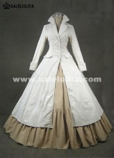 2016 Brand New White Long Sleeves Medieval Renaissance Gothic Victorian Ball Gowns For Party