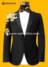 Wedding Groom Suit Stage Theater Men Costume