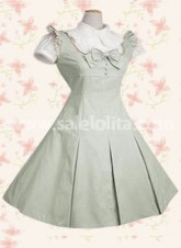 Classic Bow Sleeveless Cotton Lolita Dress