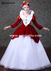 Snow White Princess Gowns Red Women Masquerade Costumes Movie Gowns