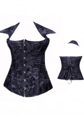 Black Elegant Fancy Pattern Corset