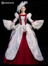 17 18th Century Rococo Marie Antoinette European Victorian Period Queen Marie Antoinette Dress Theatrical Reenactment Costume