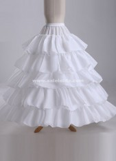 2018 Hot Sale Cheap Ball Gown 4-Hoops 5-Layers Ruffles Wedding Petticoat Slip Underskirt Crinoline For Wedding Dresses