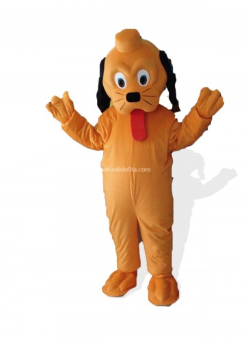 Orange Plush Adult Snoopy Dog Mascot Costume