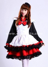 2018 Fashion japanese maid costume,cute maids uniform dresses for women