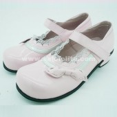 Pink Bow Lace Lolita Princess Shoes/Student Shoes