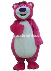 Christmas Outfit Costumes Suit Pink Bear Mascot Costume for Adults Lotso Bear Cartoon Costume