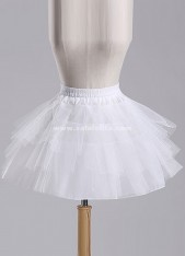 Black/White/Red Tulle Short Knee Length Crinoline Petticoat 3 Layer Underskirt,Maid/Ballet/Lolita Dress Petticoat