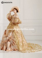 2018 Renaissance Medieval Long Tailing Marie Antoinette Dress Ball Gown Vestido