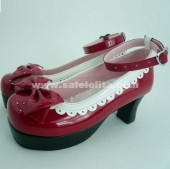 New Arrval Red Bow Lace Princess Lolita Shoes