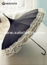 Hot Black Lace Lolita UV Umbrella for new