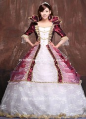 2016 European Juliet Victorian Dress Costumes,Medieval Renaissance Dress,Marie Antoinette Ball Gowns