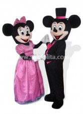 Cool Wedding Mickey and Minnie Mascot Costume Mouse Cartoon Party Costume