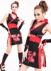 2018 New Arrival Black Sexy Mini Japanese Maid Dresses For Women