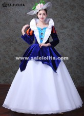 Snow White Princess Gowns Blue Fantasy Gowns Women Masquerade Costumes