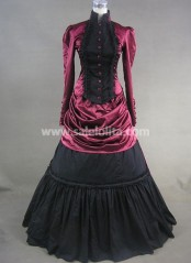 Graceful Vintage Gothic Victorian Dress Floor Length