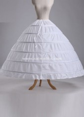Hot Sales New White 6 Hoops Ball Gown Crinoline Wedding Petticoat Skirt For Ladies