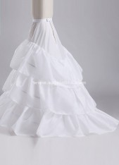 Newest Gorgeous exquisite White trailing Petticoat Bridal Slip Underskirt Crinoline For Wedding Dresses