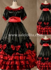 Gorgeous Black and Red Victorian Dress