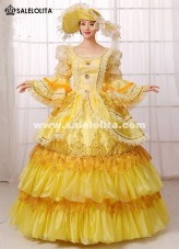 Gold Sequins Marie Antoinette Queen Rococo Ball Gown 18th Century Renaissance Medieval Party Dresses