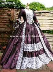 Brand New Purple Marie Antoinette Victorian Ball Gowns Renaissance Wench Gothic Princess Dressees Ball Gown Vampire Theatre Halloween Costumes