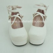 fashion white cos/sd doll anime princess flower single lolita shoes