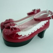 New Arrival Red Bow Princess Lolita Shoes