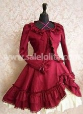 new Red Long Sleeves Lolita Dress