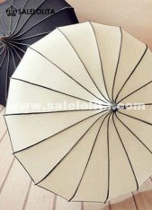 Graceful Beige Lolita Wedding Parasol