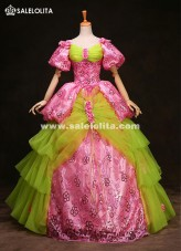 High-grade 17th 18th Century European Court Marie Antoinette Baroque Rococo Ball Gown Wedding Party Dress