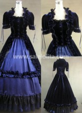 Classic Well Made Black Gothic Victorian Dress