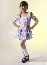 Kawaii Floral Pleated Cotton Sweet Kids Lolita Dress
