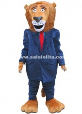High Quality Zootopia African Lion Cartoon Character Costumes Mayor Lionheart Mascot Costume