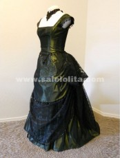 New Arrival Black Noble Regular Sleeve Floor-Length Victorian Bustle Ball Gown 2018