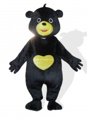 Black Plush Adult Bear Mascot Costume