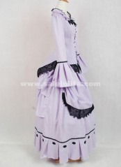 Latest Designs Light Purple Medieval Renaissance Lace Flare Sleeve Victorian Bustle Ball Gown Costumes
