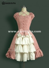 Sweet Kawaii Pink Cotton Lolita Dresses