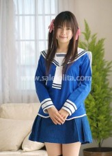 Melting Blue and White Cotton Lolita Suit
